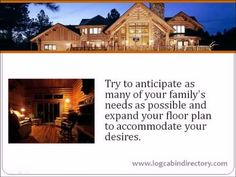 Choose a Log Home Floor Plan that is Right for You from Log Home Floor Plans From Leading Manufacturers.  See 100+ log home floor plans: www.logcabindirectory.com/log-cabin-home-floor-plans/