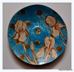 Irysy w wodzie polandhandmade.pl, #polandhandmade #ceramic  #ceramika #ceramics #pottery #plates