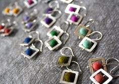 These earrings are from our #Abacus collection of work. These are a great bridge earring for all of you out there that love a little dangle. Available at http://cararomano.com/shop/abacus-small-earrings/