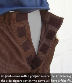 Adaptive Clothing for Wheelchair Users - Adaptations by Adrian: Sitter Pants - Twill & Denim Fabric