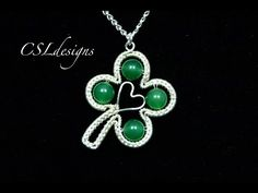 Four leaf clover wirework pendant | St. Patrick's Day - YouTube https://youtu.be/uQL258cgjOU