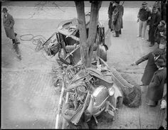 Three killed when car hit by fire engine. - Somerville by Boston Public Library, via Flickr