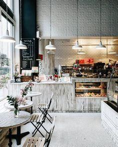 Woops NYC. Photo @heydavina on Instagram. #cafe #coffeeshop #coffeebar. Like the wall texture: family room?
