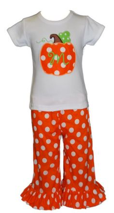 Fall pumpkin outfit - LOVE! @Pam Simpson this would be cute for sk!