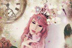 Cage Headpiece / Light Up Flower Headpiece