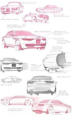 BMW CS Vintage Concept Design Sketches - by David Obendorfer