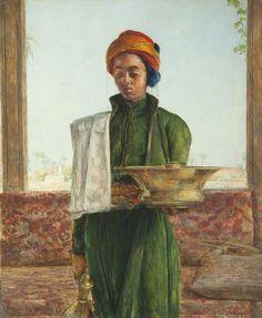 John Frederick Lewis - The Attendant on the Bath