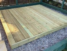 Here at Ruby we have been selling our decking kits for years and are designed to provide all the correct material for the size required, with a video to help! This well designed & high-quality wooden decking adds a perfect blend of practicality and aesthetic beauty to most properties. Providing a natural link between house and garden, it can significantly improve your general living and entertaining space, potentially increasing the value of your property, in addition to being a tranquil set Decking Base, Inexpensive Deck Ideas, Shed Makeover, Garden Makeover, Wood Deck Designs, Freestanding Deck, Patio Stairs, Pressure Treated Timber