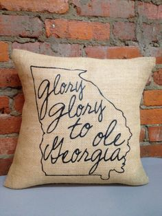 Sassy Smack Collegiate Burlap Pillow Case by JanaBelles on Etsy, $20.00