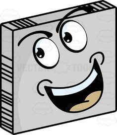 Persuasive Looking Smiley Face Emoticon Tilted Head, Eyes Looking Up and Left On Grey Square Metal Plate Tilted Right #assure #coax #computer #emotion #expression #eyebrows #eyes #face #feeling #icon #induce #influence #mood #mouth #PDF #persuade #smiley #sway #teeth #urge #vector-graphics #vectors #vectortoons #vectortoons.com