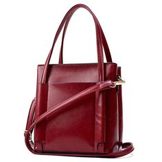 Women Retro Oil Wax Leather Handbag Shoulder Bag