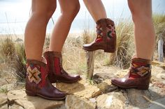 Moroccan Leather Rounded Kilim Ankle Boots – size 38 & 39. £150 - limited stock - order TODAY!