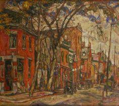Abraham Manievich, Napoleon Street, Montreal on ArtStack #abraham-manievich #art