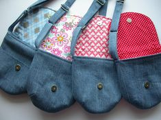Made by Irinelli: Purses with Kitty kisoy and bear 2 of 2 Jean Crafts, Denim Crafts, Satchel, Crossbody Bag, Tote Bag, Purse Wallet, Pouch, Recycle Jeans, Purse Patterns