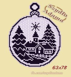 Best 12 zawieszki do okna – SkillOfKing.Com - Her Crochet Christmas Charts, Crochet Christmas Ornaments, Christmas Crochet Patterns, Holiday Crochet, Crochet Snowflakes, Christmas Embroidery, Christmas Cross, Xmas Cross Stitch, Cross Stitch Charts