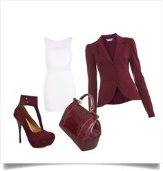 """""""Burgundy Outfit"""" by renee-jones1 on Polyvore"""