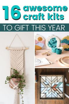 Make a hand-made gift with these cute and easy craft kits. Gift one of these 16 craft kits for your boyfriend, mom, best friend or any of your crafty loved one. Arts And Crafts Kits, New Crafts, Crafts To Do, Craft Kits, Creative Crafts, Easy Crafts, Craft Projects, Projects To Try, Diy Resin Art