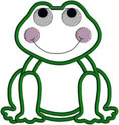 Applique Frog Applique Designs Embroidery Design Pattern