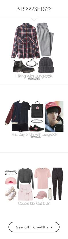 """""""BTS💞💞😘SETS✌✨"""" by nialuisa ❤ liked on Polyvore featuring WithChic, Lands' End, Moncler, M. Cohen, River Island, Fjällräven, Dorothy Perkins, Vivienne Westwood, Topman and Converse"""