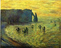 The Cliffs at Etretat - Claude Monet