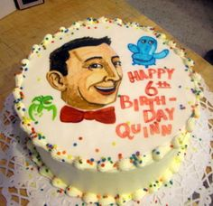 Pee Wee Herman Birthday Cake
