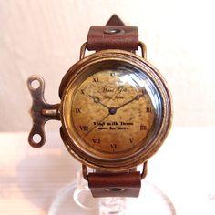 Mari Goto 時計仕掛けの腕時計 clock work watch L