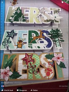 Kerst groot Advent Calendar, Christmas Cards, Gift Wrapping, Holiday Decor, Snail Mail, Pop Up, Card Making, Scrapbooking, Home Decor