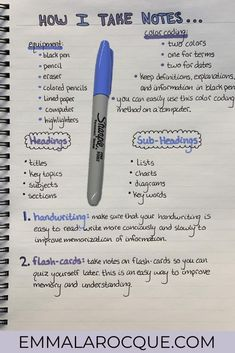 How I take notes Find everything that you need to know about taking notes in college! Learn how to take pretty and organized notes with great handwriting; in notebooks or on a laptop. Here, you can find templates for taking notes in college. High School Hacks, Life Hacks For School, School Study Tips, Study Tips For College, Best Apps For School, Back To School Tips, Middle School, College Notes, School Notes
