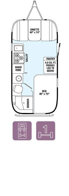 Floor Plans - Flying Cloud 19 Airstream - NEW - 4500# - $58,150