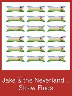 Jake & the Neverland Pirates Straw Flags - FREE PDF Download