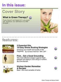 This is interesting! Check out the magazine Green Therapy and Natural Health Magazine is an iPad magazine on the Apple Newsstand. You can get it here: http://itunes.apple.com/us/app/green-therapy-natural-health/id540564673?ls=1=8ls=1=8