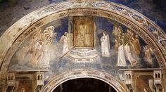 God Sends Gabriel to the Virgin - Giotto Completion Date: 1306 Style: Proto Renaissance Genre: religious painting Technique: fresco Fra Angelico, Fresco, Tempera, Siena, A4 Poster, Poster Prints, Madonna, Renaissance Artists, Italian Renaissance