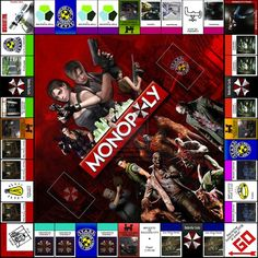 Resident Evil Monopoly-OMG Rob and I would play this all the time.