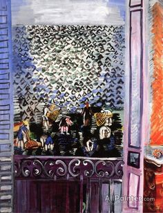 The Window Artwork By Raoul Dufy Oil Painting & Art Prints On Canvas For Sale Raoul Dufy, Manet, Renoir, Art Fauvisme, Georges Braque, Art Prints For Sale, Oil Painting Reproductions, Painted Paper, Hand Painted
