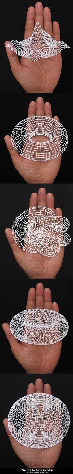 Papercut - 3d - geometric - paper art - papercuts by ParthKothekar.deviantart.com on @DeviantArt