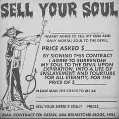 What a HELLish agreement!!! LOL (repinned)