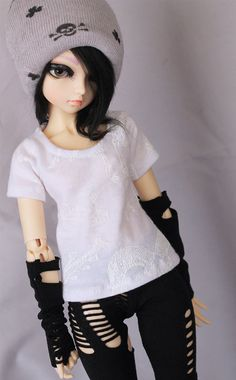MSD BJD clothes Minifee White animal skeleton by MonstroDesigns