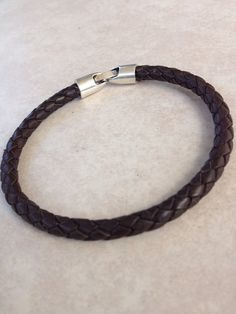 Men's Leather Bracelet on Etsy, $20.00