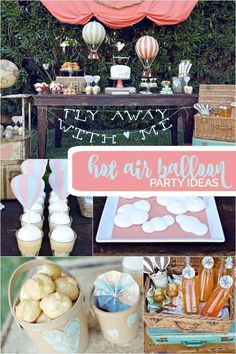 Hot Air Balloon Party Ideas, Such A Cute Idea For Your Next Birthday Theme!