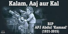 Amul Dedication for Dr.Kalam's demise.. sad but cute..!!