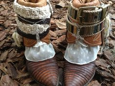 Cowboy boots, Womens shoes, Boho, OOAK boots, Cowgirl boots,
