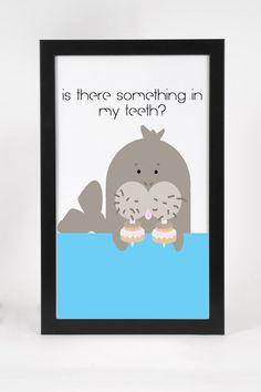 Donut Walrus Print