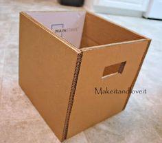 Caixa Organizadora de Papelão e Tecido Passo a Passo                                                                                                                                                                                 Mais