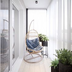 Corner for relaxation, which allows you to relax and disconnect from the bustle . Corner for relax Interior Balcony, Small Apartment Interior, Small Space Interior Design, Apartment Balcony Decorating, Balcony Furniture, Home Room Design, Decor Interior Design, Interior Design Living Room, House Design