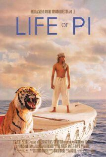 Life of Pi (US/China 2012) I loved the book, so beautifully written I didn't want it to end, and I went to the film with eager anticipation and curiosity. It successfully captures the essence of the physical, emotional and spiritual challenges of being shipwrecked on a vast and unforgiving ocean with a wild Bengal tiger, made all the more stunning and vivid in 3D. 3.8 stars.