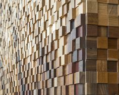 Lululemon, Toronto: reclaimed wood and offcuts from a furniture workshop