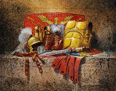 God Christian Art - The Armour of God  by Graham Braddock