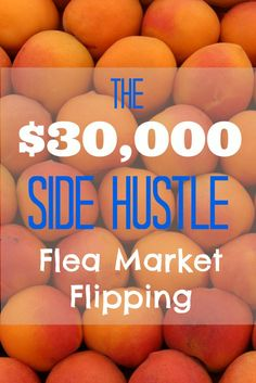 Rob earned $30k last year buying random stuff on the cheap at local flea markets and via a couple marketplace apps, and then re-selling, primarily on eBay. Inspiring story about taking consistent action and making significant side income. The $30,000 side hustle: flea market flipping, aka how to flea market flip, via @sidehustlenation
