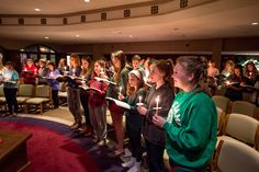 """Lewis Hall celebrates Lucenarium, or """"Lewis Luce,"""" which is evening prayer in the Holy Cross tradition, on Monday nights"""