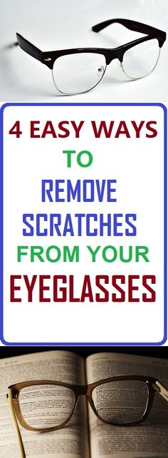 Here are some more ways you can remove scratches from your eyeglasses. #eyeglasses #removescratches #hacks #cleaning